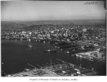 Aerial of downtown Seattle from southwest, 1951