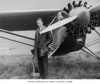 Charles Lindbergh with the Spirit of St. Louis at Sand Point, Seattle, September 13, 1927