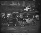 Horse and carriage outside Bender & Kohlstad, Seattle, 1934