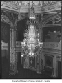 Chandelier at Orpheum Theatre, Seattle, ca. 1928