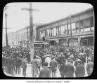 Crowds during streetcar strike, Seattle, 1903