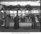 Valley Vegetable Gardens stall at Pike Place Market, Seattle, ca. 1928