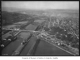Aerial of Interbay neighborhood from south, Seattle, March 13, 1934
