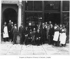 Staff outside U.S. Assay Office, Seattle, ca. 1899