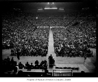 Aero-Machinists Union meeting inside the Coliseum, Seattle, 1965