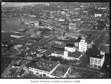 Aerial of Horlucks Brewing Co. and South Lake Union, Seattle, October 6, 1934