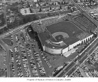 Aerial of Sick's Stadium looking southeast, Seattle, 1969