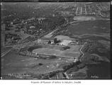 Aerial of Husky Stadium from southeast, University of Washington, Seattle, May 10, 1932