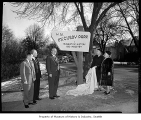 Unveiling of McCurdy Park sign, Seattle, 1959