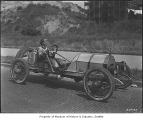 Mercer racing car, probably in Seattle, 1918