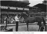 Yearling sale at Longacres Park, Renton, 1971
