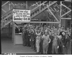Scrap drive rally at shipyard, Seattle, 1942