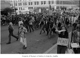 Anti-war demonstration in downtown Seattle, May 1, 1971