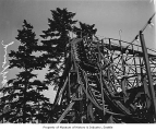 Children on wooden roller coaster at Playland Amusement Park, Bitter Lake, June 8, 1940