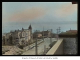 View west from Denny Hotel, Seattle, ca. 1892