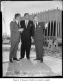 Joseph Gandy between Nelson Rockefeller and Mayor Gordon Clinton at the Century 21 World's Fair...
