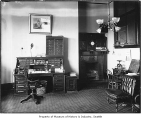 President's office in Denny Hall, University of Washington, Seattle, ca. 1905