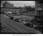 Building site for University District post office, Seattle, 1937