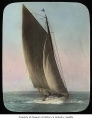 Sailboat with Seattle Yacht Club pennant, ca. 1907