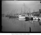 Fishing fleet and Coast Guard ships in Lake Union, Seattle, 1938