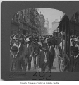 Crowds walking at Second and Union, Seattle, 1908