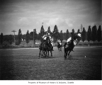 Will Rogers playing polo, Olympic Riding and Driving Club, Seattle, August 6, 1935