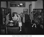 Beacon Hill Branch Library interior, Seattle, 1945