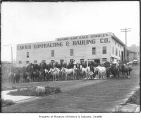 Horses outside Carter Contracting & Hauling Co., Seattle, 1905