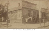 Liquor store and restaurant, Ballard, ca. 1890