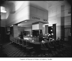 Hotel Benjamin Franklin coffee shop, Seattle, 1936