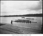 University of Washington crew team in shells, Seattle, 1921