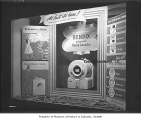 Bendix washing machine in Ernst Hardware window, probably in Seattle, 1945