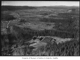 Aerial of Camp Cherry Valley, near Carnation, February 15, 1935