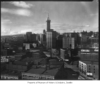 Downtown Seattle from King Street Station tower, April 7, 1930