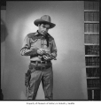 KING TV personality Sheriff Tex, Seattle, 1952