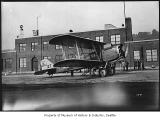 Air mail plane at Boeing Field, Seattle, ca. 1933