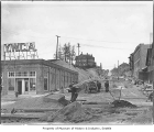 Fifth Avenue being regraded, Seattle, May 22, 1909