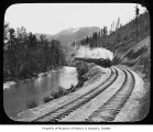 Northern Pacific train in Cascade Mountains, n.d.