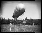 Soldiers with barrage balloon, Seattle, 1942