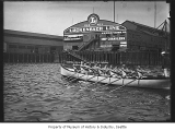 U.S.S. Seattle crew rowing in Elliott Bay, Seattle, ca. 1926