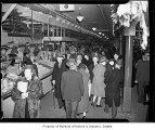 Shoppers inside Pike Place Public Market, Seattle, 1940