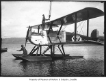 World's flight plane on Lake Washington, Seattle, 1924