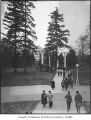 Students walking on University of Washington campus, Seattle, 1915