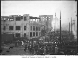 Crowd watching fire in Belltown, Seattle, June 10, 1910