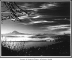 Mount Rainier and Lake Washington from Madrona neighborhood, Seattle, 1960