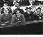 Crew of first Japanese ship to dock in Seattle after World War II, 1948