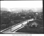 View east from Volunteer Park water tower, Seattle, ca. 1910