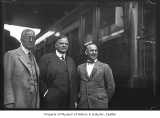 Herbert Hoover with two other men, Seattle, ca. 1927