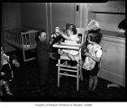 Children inside Seattle Day Nursery, Seattle, 1942