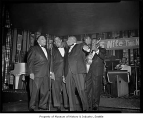 Mills Brothers singing in a nightclub, Seattle, 1963